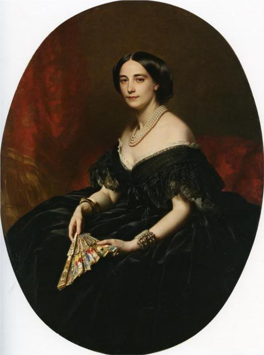 Портрет дамы с веером, 1850 (521x700, 30Kb)