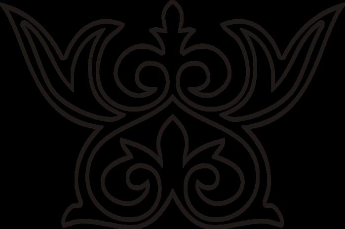 Раскраска казахских орнаментов 137