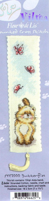 butterflies bookmark (172x700, 41Kb)