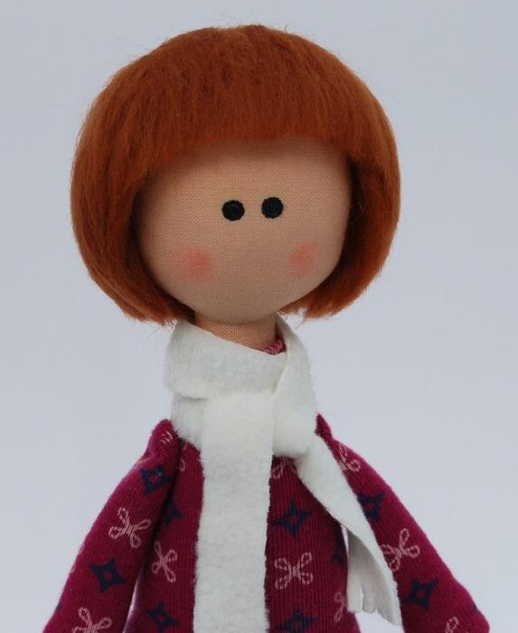Выкройка большеножки-куклы с цельнокроенной головой