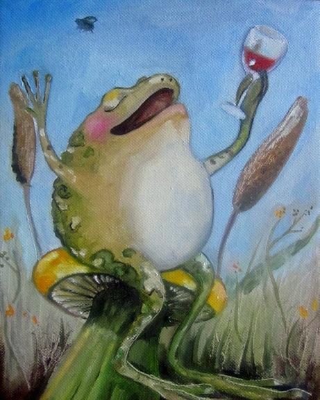 Лягушка смешные рисунки чествуем