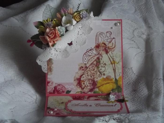 Скрапбукинг открытка подставка