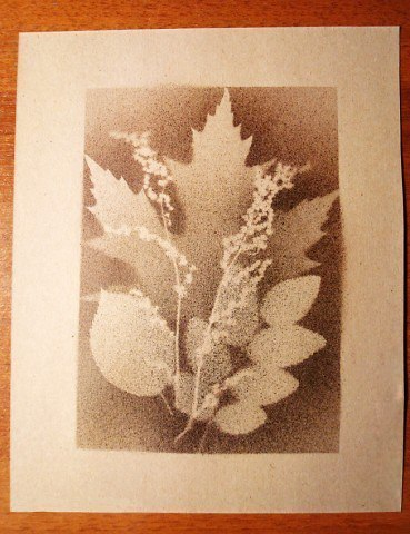 картина из осенних листьев