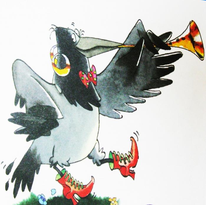 Сорока ворона открытки, марта