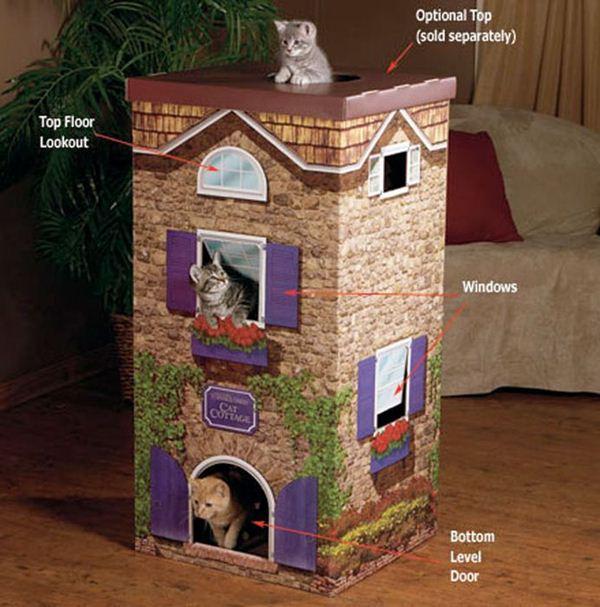 Креативные дома для котов6 (600x607, 65Kb)