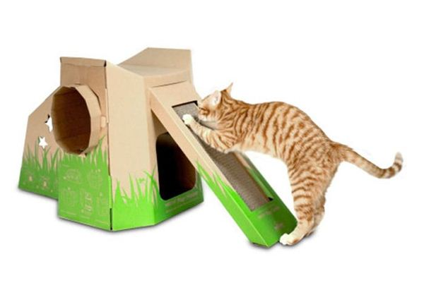 Креативные дома для котов26 (600x418, 22Kb)