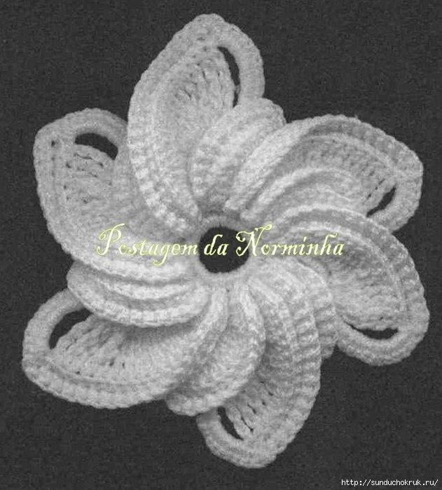 Вязаные цветы крючком схемы и описание.
