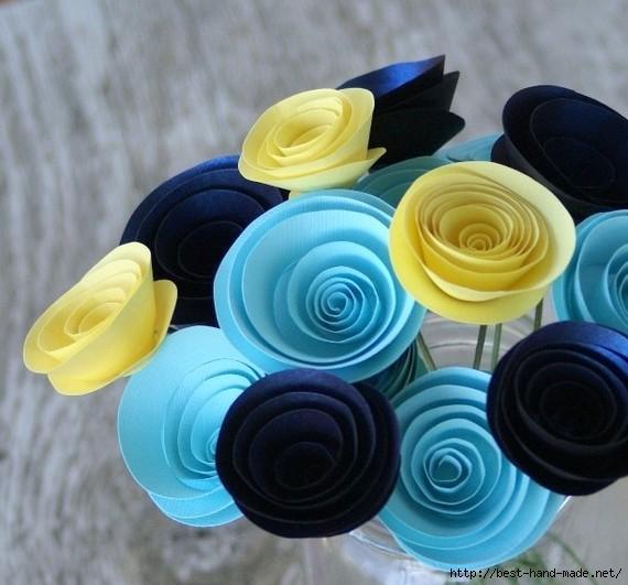 Спиральные бумажные цветы. Делаем, оформляем, любуемся. Обсуждение на LiveInternet - Российский Сервис Онлайн-Дневников