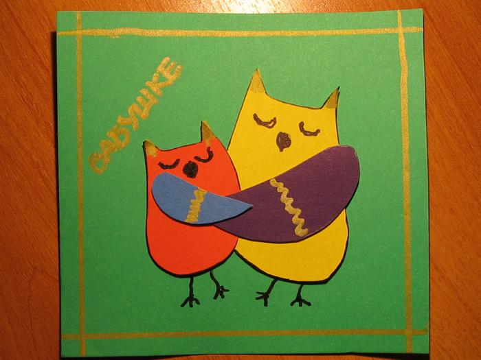 Картинки для, открытка с совой на день матери