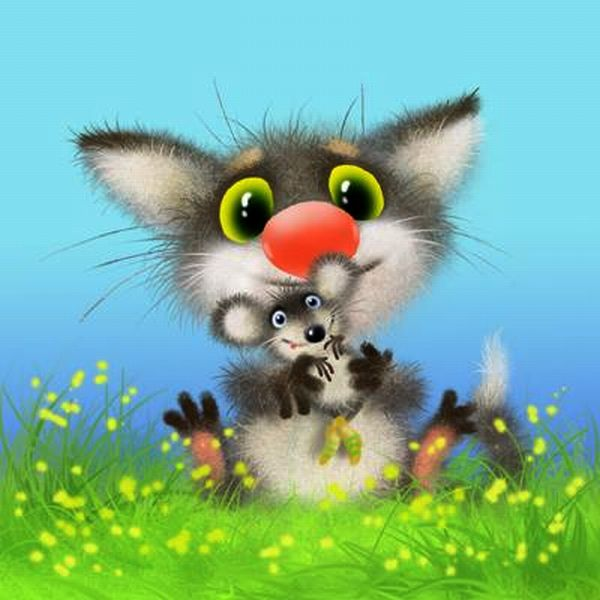 Надписью мама, кошки мышки открытка