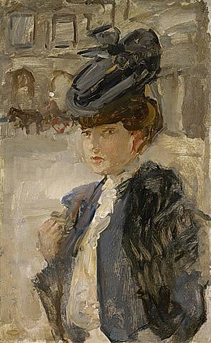 isaac-israels-parisian-woman-at-the-place-vendme (431x700, 260Kb)