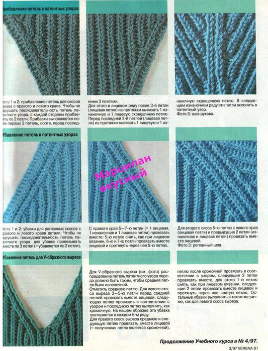 Вязание спицами свитера узор резинка