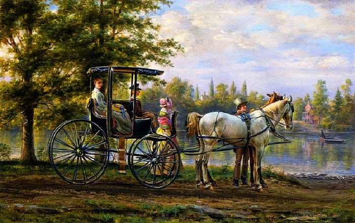 Edward Lamson Henry - Waiting for the Ferry (700x440, 309Kb)