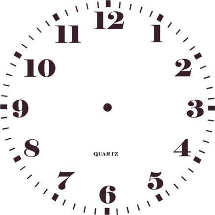 циферблат часов шаблон для фотошопа