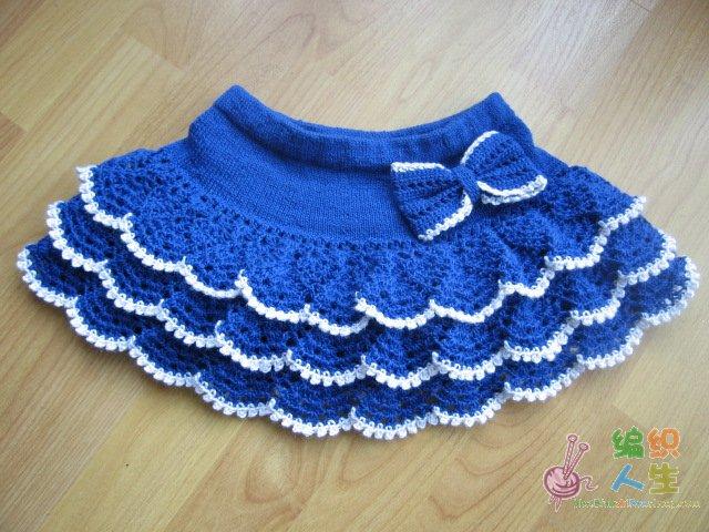 вязание крючком юбки для детей схемы