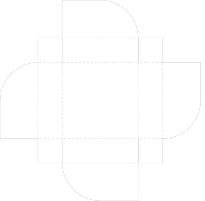 Шаблон коробочки для открытки