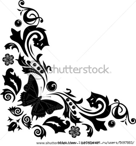 stock-vector-illustration-with-butterflies-and-flowers-ornament-10762447 (438x470, 93Kb)