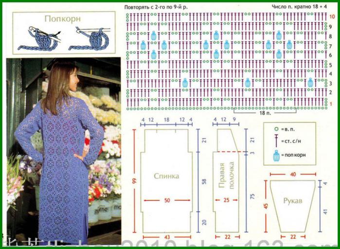 Кардиганы женские крючком со схемами и фото