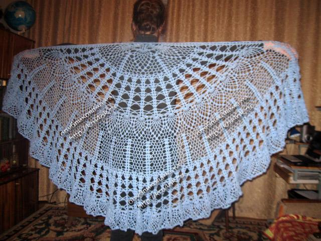 схема вязания шалей накидок платков крючком.