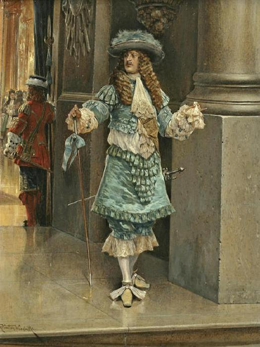 Richard Caton Woodville II (1856-1926) - The lost handkerchief (525x700, 62Kb)
