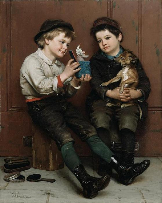 john george brown.a-surprise-party (559x700, 48Kb)