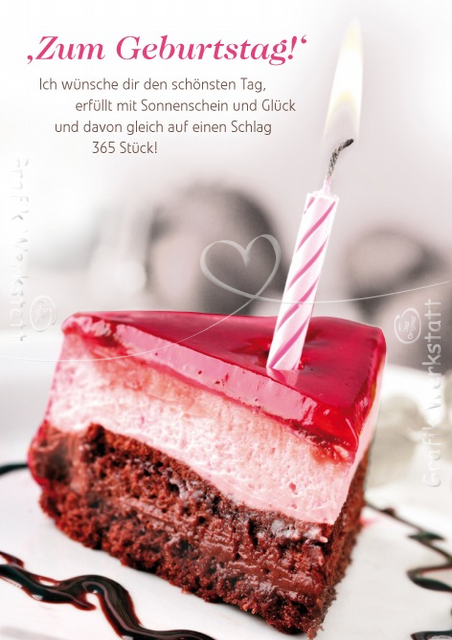 Открытка на день рождения на немецком языке. и с переводом, елочка мастер