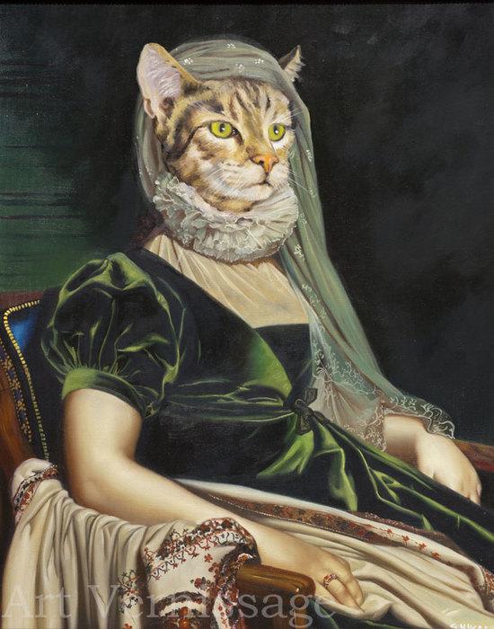 Женщины с головами кошки картинки