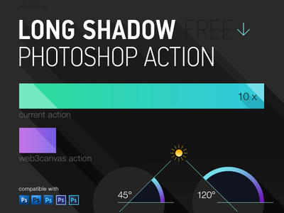 Long Shadow Photoshop Action (400x300, 38Kb)