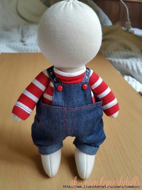 Шьем зимний комбинезон для куклы ростом 32-34 см Ярмарка 43