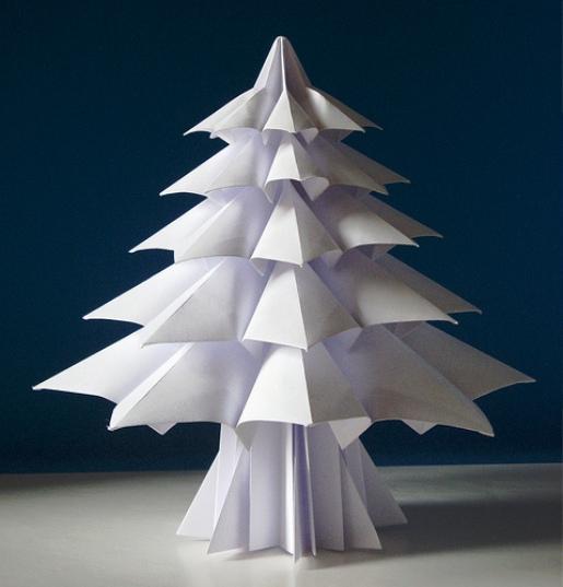 Оригами елочка мастер класс - Оригами