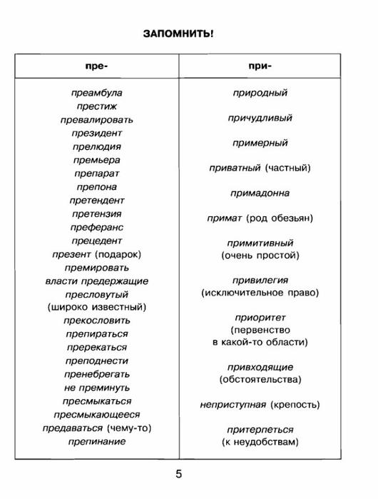 Правило в стихах для 3 класса по русскому языку