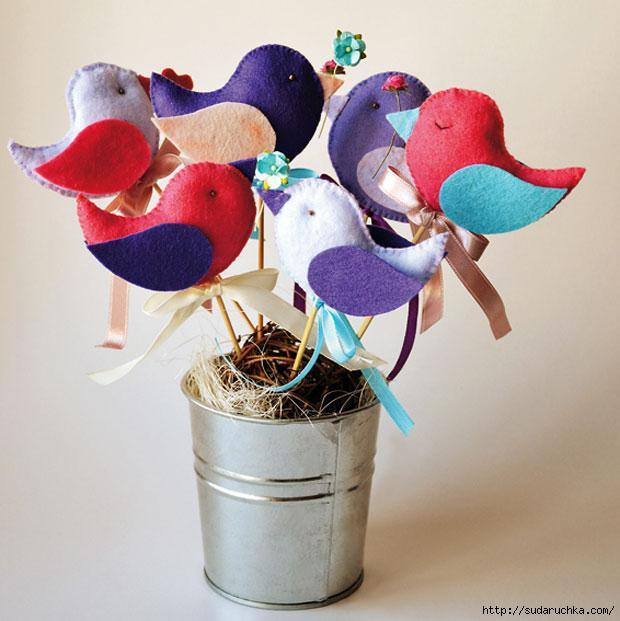 Сделать птичек своими рукам - Поделки