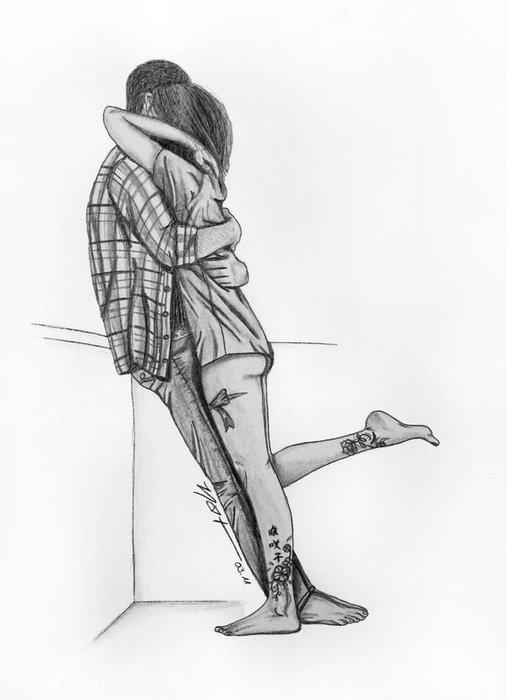 влюблённые пары нарисованные картинки
