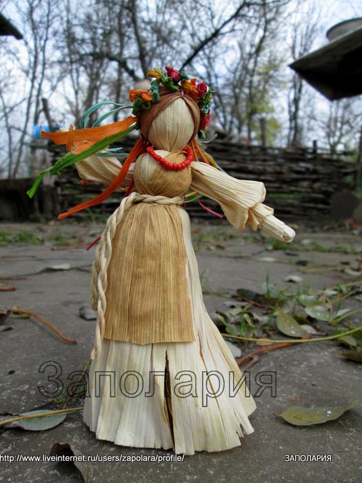 Как сделать куклы из сена 814