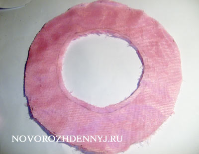 Выкройка берета из ткани для девочки