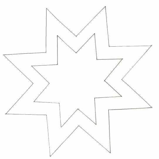 Шаблон вифлеемская звезда своими руками