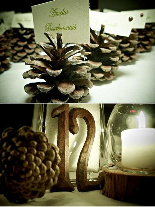decora en navidad con piñas via stylemepretty (500x667, 147Kb)