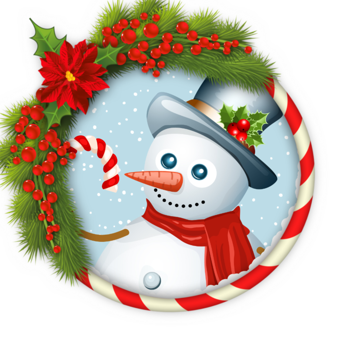 Для подруги, картинки новогодних снеговиков