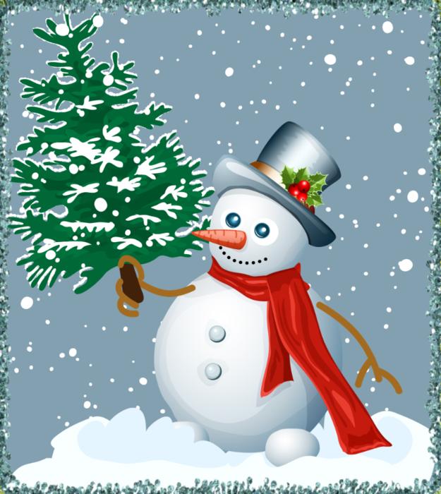 Картинках, открытка снеговиком