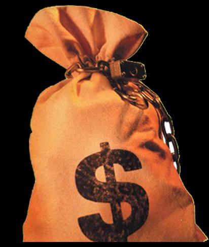 гифка мешок с долларами