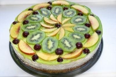 Украшаем торт фруктами. Вкуснолог.