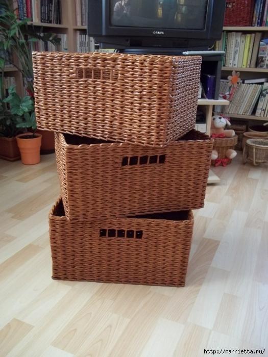 Плетение квадратной корзины для начинающих пошагово 90