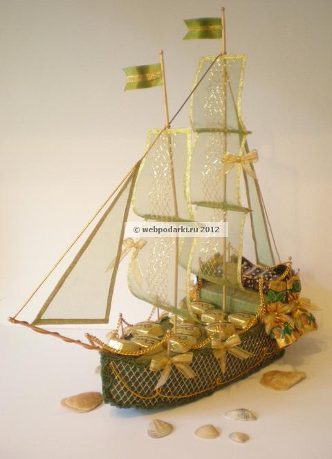 Корабль из конфет для мужчины своими руками фото