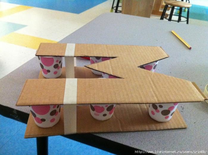 Буквы из коробок своими руками 704
