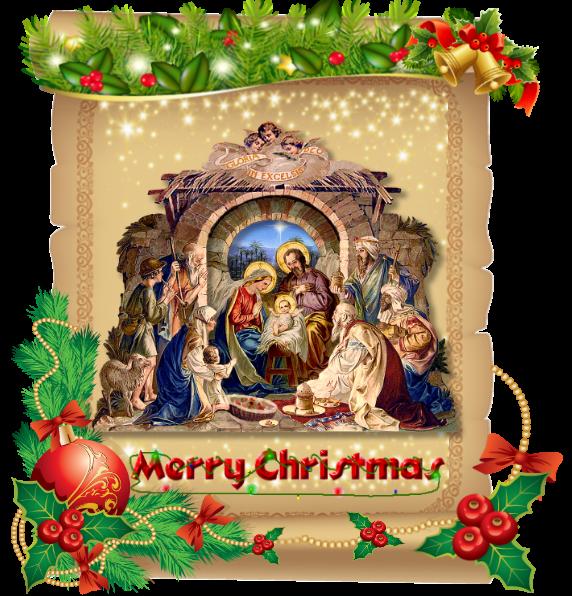 Открытка на украинском языке с католическим рождеством
