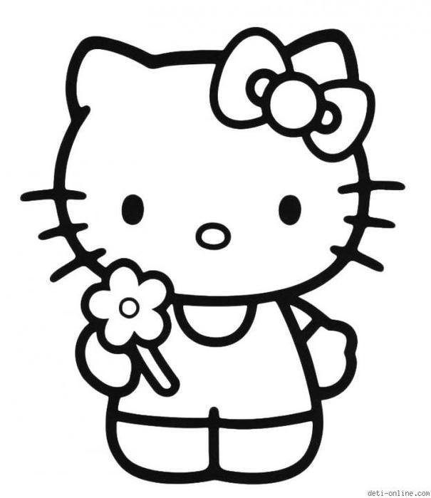 Интересно для детей. Раскраски Hello, Kitty!. Обсуждение ...