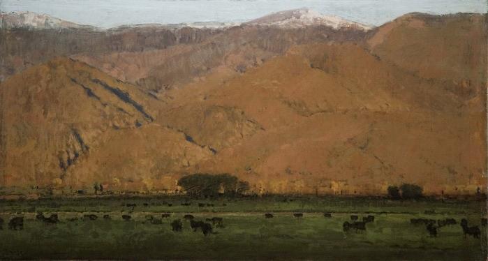 Evening_Hills_w_Black_Cows_14x26 (700x374, 65Kb)