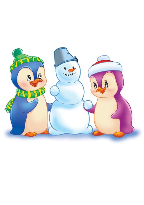Пингвины картинки новогодние, марта своими руками