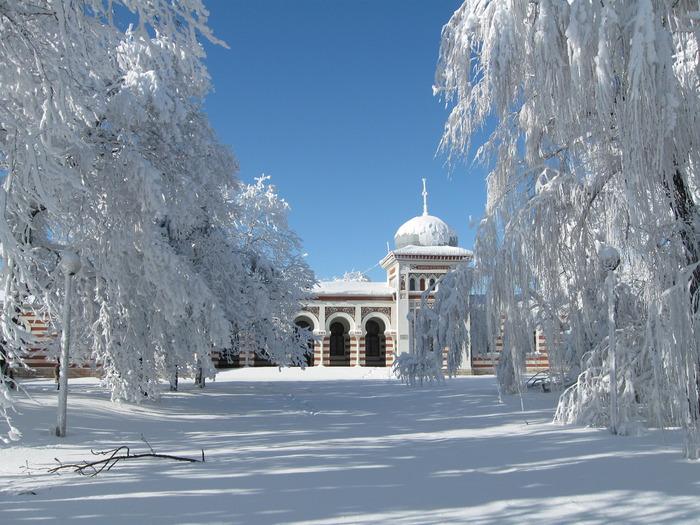 Картинка зимнего пейзажа книжного варианта ванда