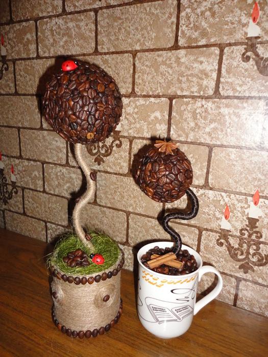 поздравление к подарку кофейное дерево интерьерной модой наступающем
